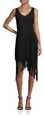 Laundry by Shelli Segal Asymmetrical Fringe Dress $225 thestylecure.com