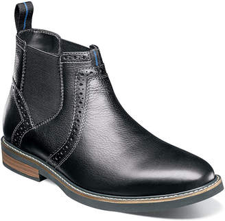 Nunn Bush Mens Chelsea Boots Flat Heel Lace-up