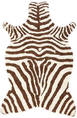 "Loloi Rugs Lilly Zebra Shag Rug, 3'6"" x 5'6"""