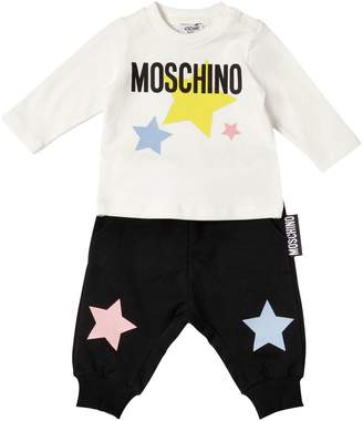 Moschino Logo Cotton Jersey T-Shirt & Pants