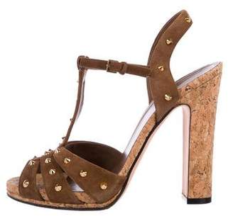 4175498a710e Pre-Owned at TheRealReal · Gucci Studded Suede Sandals