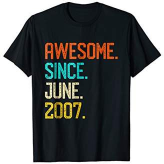 Awesome since June 2007 Shirt Vintage 11th Birthday Him Her