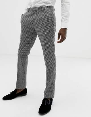 Twisted Tailor super skinny suit trousers in houndstooth