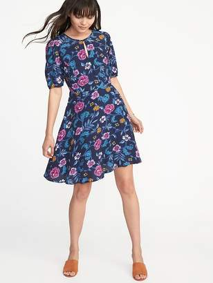Old Navy Fit & Flare Crepe Dress for Women