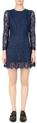 The Kooples Eyelash-Lace Trimmed Dress