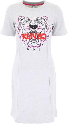 Kenzo Sweatshirt Dress With Tiger Embroidery