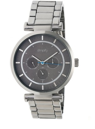 Simplify Stainless Bracelet Watch with Gray Dial