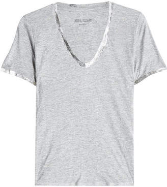 Zadig & Voltaire Tino Foil Jersey T-Shirt