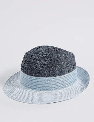 M&S Collection Colour Block Fedora Hat
