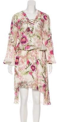 Haute Hippie Print Midi Dress