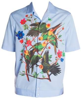 DSQUARED2 Parrot Print Button-Down Shirt
