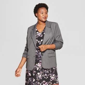 Ava & Viv Women's Plus Size Bi-Stretch Twill Blazer