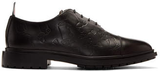 Thom Browne Black Wholecut Toy Icon Oxfords