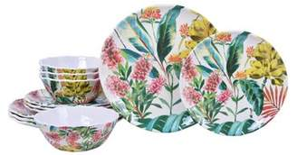 222 Fifth Tamea Melamine 12 Piece Dinnerware Set, Service for 4