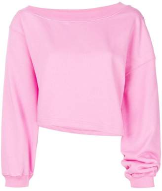 MSGM asymmetric cropped sweatshirt