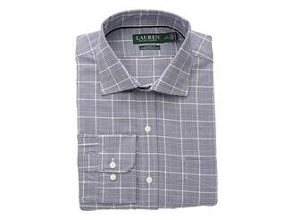 Lauren Ralph Lauren Classic Fit No-Iron Houndstooth Cotton Dress Shirt