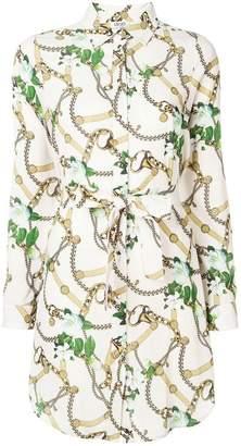 Liu Jo chain print shirt dress