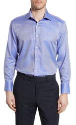 English Laundry Trim Fit Stripe Dress Shirt