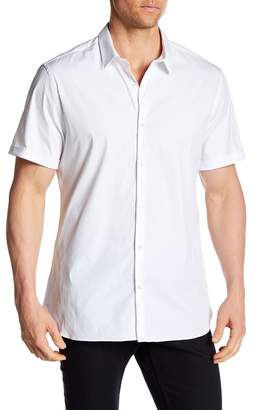 The Kooples Short Sleeve Fitted Dress Shirt