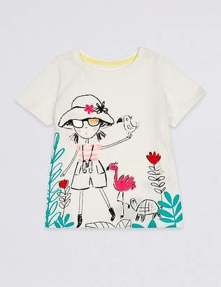 Marks and Spencer Pure Cotton Safari Girl Top (3 Months - 7 Years)