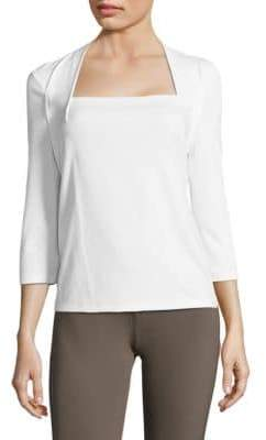 Lafayette 148 New York Giada Quarter-Sleeve Top