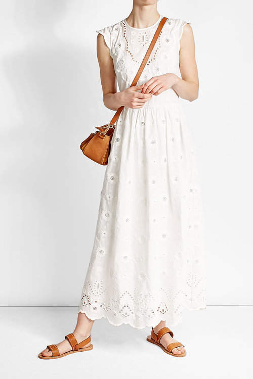 RED ValentinoR.E.D. Valentino Cotton Dress with Lace Detail