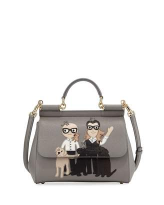 Dolce & Gabbana Sicily Medium DG Family Patch Bag, Gray $2,080 thestylecure.com