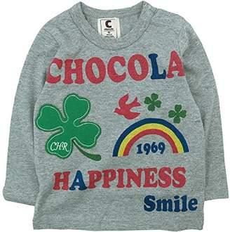 ChocolA (ショコラ) - chocola(ショコラ) 天竺クローバーAP長袖Tシャツ 130cm /杢グレー NO.CH-1521-16001