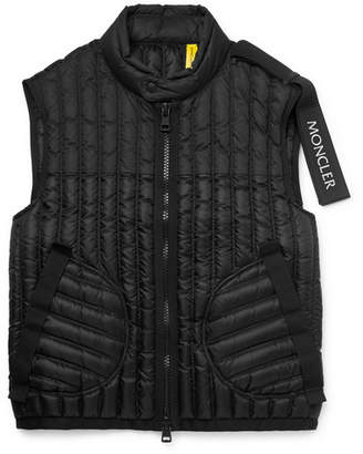 Craig Green Moncler Genius - 5 Moncler Grosgrain-Trimmed Quilted Shell Down Gilet - Black