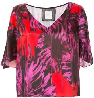 Ingie Paris abstract print blouse