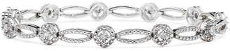 JCPenney FINE JEWELRY 1/10 CT. T.W. Genuine Diamond Oval & Round Bracelet