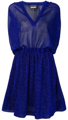 Just Cavalli metallic flared mini dress