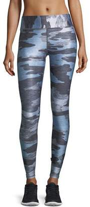 Terez Heathered Camo Tall-Band Performance Leggings