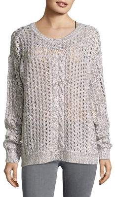 Tommy Bahama Crochet Roundneck Sweater