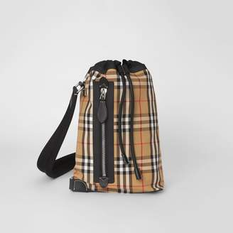 Burberry Small Vintage Check Canvas Duffle Bag