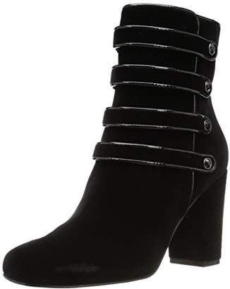 The Fix Women's Sadie Military-Inspired Four-Strap Ankle Boot With Jewel Buttons