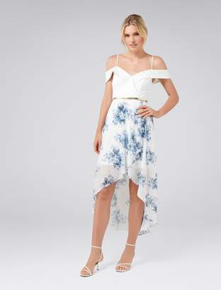 Ever New Season Off Shoulder Two-in-One Dress