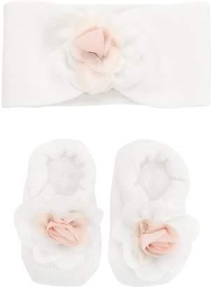La Perla Knitted Wool Socks & Headband Set