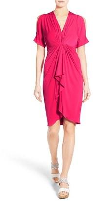 Women's Catherine Catherine Malandrino 'Emily' Cold Shoulder Twist Front Dress $138 thestylecure.com