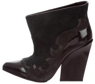 Sergio Rossi Scarpe Donna Suede Bootie w/ Tags