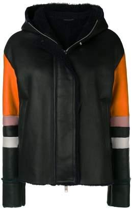 Iceberg colour block hooded jacket