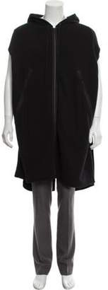Ann Demeulemeester Hooded Cutoff Sweater black Hooded Cutoff Sweater