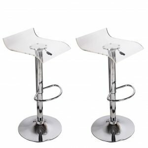 clear Orren Ellis Champney Acrylic Hydraulic Adjustable Height Swivel Bar Stool Orren Ellis