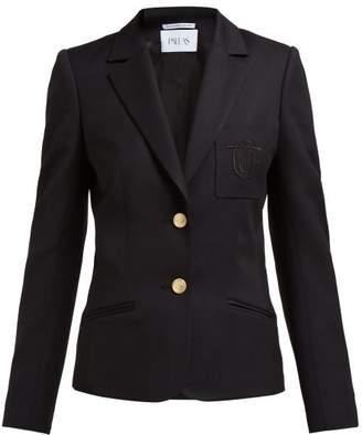 Pallas X Claire Thomson Jonville X Claire Thomson-jonville - Eton Single Breasted Grain De Poudre Wool Blazer - Womens - Black