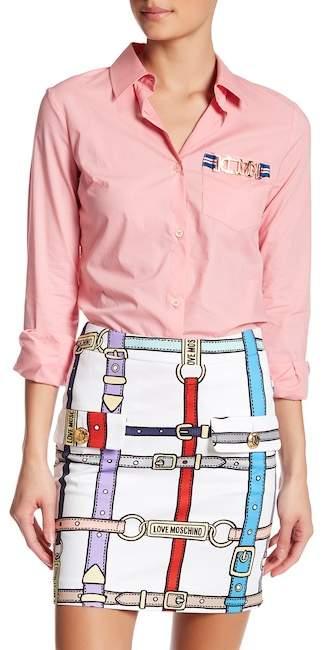 Love MoschinoLOVE Moschino Logo Detail Pocket Shirt