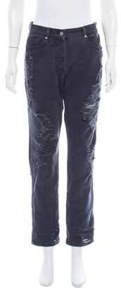 Bec & Bridge Distressed Mid-Rise Jeans