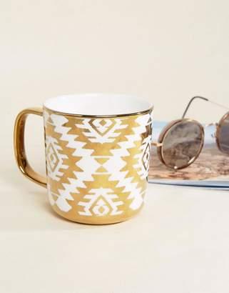 Paperchase Porcelain Gold Print Mug