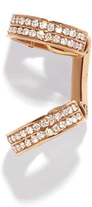 Repossi Berbere Small Pave Single Diamond Ear Cuffs in 18K Gold
