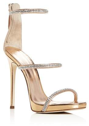 Giuseppe Zanotti Women's Coline Embellished Strappy High-Heel Sandals