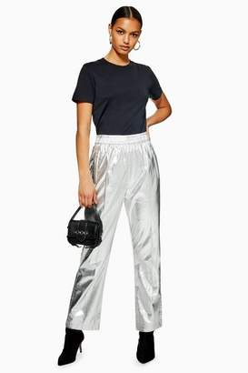 Topshop Womens Pu Track Pants